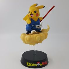 Dragon Ball Z Son Goku Pikachu Cosplay Super Saiyan Figure Statue Toy