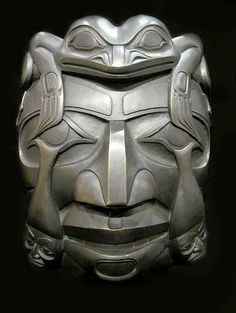 Coastal Peoples Fine Arts Gallery - Christian White, Haida frog, human tears, labret