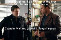 """Another Firefly """"crossover"""".   I do believe most of them have been on Castle now"""