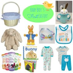 Baby Boy's First Easter Basket Ideas (with links for purchasing!)