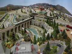 Beautiful Model Train Layout with Water