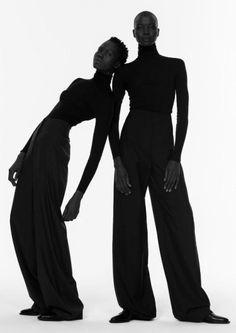 Sleek Tailoring - bold minimal fashion, black & white fashion editorial // Ph. Paul Jung