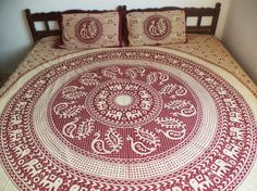 Cotton Bed Spread Hippie mandala Double bed by Indianparadise, $30.00