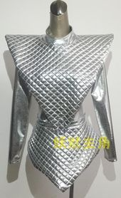 Quality female bodysuit nightclub singer sets DJ dance costumes DS costume reflective silver shiny piece suit clothing photography jazz with free worldwide shipping on AliExpress Mobile Space Fashion, Fashion Design, Futuristic Costume, Fancy Dress, Dress Up, Space Costumes, Space Girl, Womens Bodysuit, Halloween Disfraces