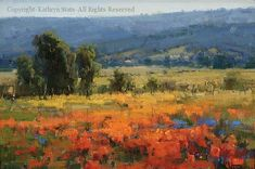 High Valley Fields - Oil by Kathryn Stats