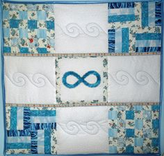 "Mein ""Blue Infinity"" Quilt."