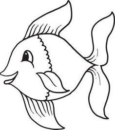 Cartoon Fish Coloring Page 1