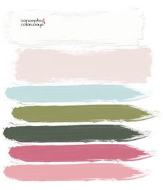 This pink and green color palette has a beautiful combination of blush pink and bubblegum pink with a balance of sage green, dark green and aqua blue. Pink Paint Colors, Aqua Blue Color, Pink And Green, Blush Pink Paint, Aqua Paint, Green Rose, Blush Color, Room Colors, Cobalt Blue