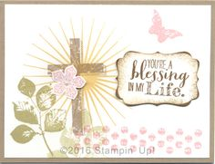 Stampin' Up! Easter Cards - Kinda Eclectic, Petite Petals and Blessed By God stamp sets, Petite Petals and Decorative Label Punches