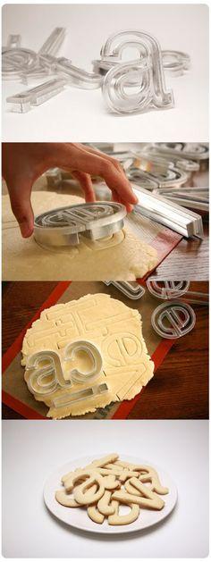 helvetica cookie cutters. whoo!