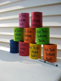 White Trash Bash ~ Well we know i know how to order these! Redneck Birthday, Redneck Party, Redneck Gifts, Bbq Party, Trailer Trash Party, Hillbilly Party, White Trash Party, 30th Birthday Parties, Birthday Ideas