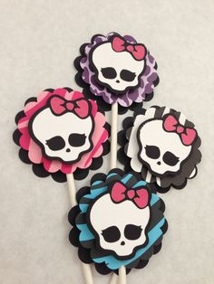 Monster High Cupcake Toppers. $14.00, via Etsy.