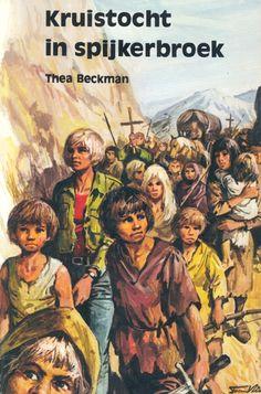 kruistocht in spijkerbroek. gaat over een jongen met spijkerbroek die in het verleden land.........