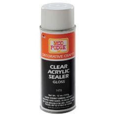 Mod Podge® Clear Acrylic Sealer Spray Gloss