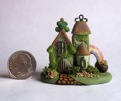 Handmade Miniature FAIRY  WHIMSY ST. PATRICK'S HOUSE - OOAK by C. Rohal #CRohal