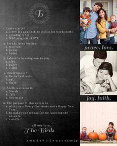 Cute Christmas card idea....