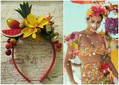 Ideia tiara de Carmen Miranda