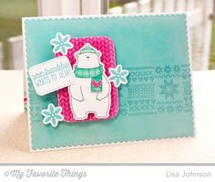 Cool Day stamp set and Die-namics, Cozy Mittens, Nordic Knits, Blueprints 20 Die-namics, Stitched Rounded Rectangle STAX Die-namics - Lisa Johnson #mftstamps
