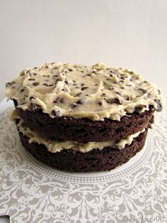 Chocolate Cookie Dough Cake - Crazy for Crust