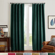 Buy Velvet Curtains Green Panels Temperature Control Room Darkening Super Soft Luxury Curtains Home Decor Bedroom Curtain Rod Pocket Light Blocking Privacy Protect Party / Dining Room 2 Panels 84 Inches Online – Findtopbrandsgreat Green Curtains, Drapes Curtains, Curtain Panels, Curtains Living, Window Drapes, Blackout Curtains, Bedroom Drapes, Home Decor Bedroom, Insulated Curtains