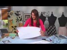 How to cut a skirt pattern on the bias on It's Sew Easy with Angela Wolf (1502-3) - YouTube