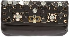 LANVIN - Happy Embellished Pouchette #clutchbag