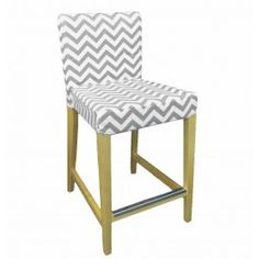IKEA Henriksdal bar stool cover from Knesting.com in Ash Gray chevron Bookcase Storage, Paper Storage, Bar Stool Slipcovers, Bar Stool Covers, Ikea Kitchen, Kitchen Island, Conservatory Furniture, Office Nook, Bar Stools