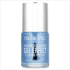 NAILS INC. GEL EFFECT TOP COAT: One coat leaves your manicure with a salon-worthy shine and a shatter-proof barrier from the sand, surf, and sun ($10; sephora.com).