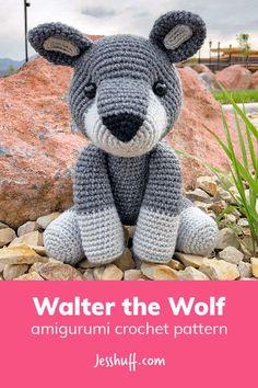 Walter the Wolf Amigurumi Pattern