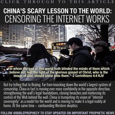 """CLICK THROUGH TO THIS ARTICLE:""""China's scary lesson to the world: Censoring the Internet works"""" ...................................... https://www.washingtonpost.com/world/asia_pacific/chinas-scary-lesson-to-the-world-censoring-the-internet-works/2016/05/23/413afe78-fff3-11e5-8bb1-f124a43f84dc_story.html?hpid=hp_hp-top-table-main_china-firewall-755pm:homepage/story"""