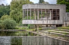 Bloso Outdoor is an outdoor sports facility near the Belgium village Hofstade. This is the place of the well known abandoned outdoor swimming pool with it's characteristic buildings. Image: URBANdoned.net