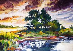 Summer afternoon by Mishelangello on DeviantArt Acrylic Colors, Acrylic Paintings, Deviantart, Summer, Summer Time