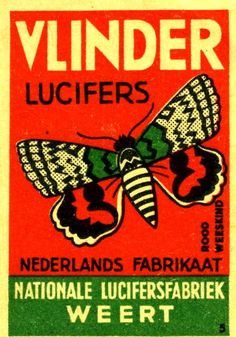 Vlinder Lucifers by Kollage Kid