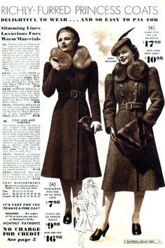 Catalog Inspiration: Fall and Winter Coats- 1939-1940