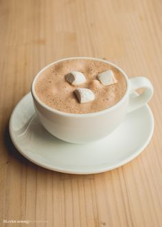 Cioccolata / chocolate caliente con marshmallows