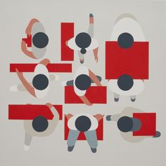 Geoff Mcfetridge, 3 x 3 (Dealing with abstraction)