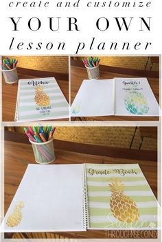 An economical and easy way to create your own lesson planner using a pre-made template.