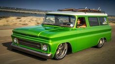 1966 Chevrolet Suburban Restomod Project – Insane Build of the Lime Crush Suburban #Amazing, #Diesel, #Trucks  - http://vixert.com/1966-chevrolet-suburban-restomod-project-insane-build-lime-crush-suburban/
