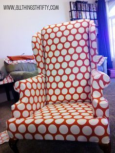 Reupholster a wing back chair tutorial