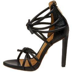 Amazon.com: L.A.M.B. Women's Ray Sandal,Black Leather: L.A.M.B.: Shoes