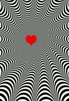 Look at the heart Optical Illusions Pictures, Illusion Pictures, Cool Illusions, Illusion Kunst, Illusion Art, Fractal Images, Fractal Art, Trippy Wallpaper, Iphone Wallpaper