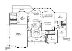Spectacular Atrium Home (HWBDO76192) | Mediterranean House Plan from BuilderHousePlans.com