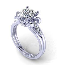 Stil 120WDM Mittelring Moissanite Ehering von fabiandiamonds