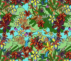 Birds_and_blooms fabric by annie_v_designs on Spoonflower - custom fabric