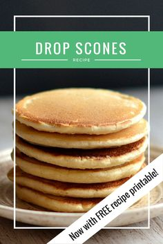 Drop Scones, also known as Scotch Pancakes are the best pancakes in the world. L… Drop Scones, also known as Scotch Pancakes are the best pancakes in the world. Light, fluffy and fool proof! Baked Pancakes, Pancakes And Waffles, Thin Pancakes, Homemade Pancakes, Fluffy Pancakes, Best Pancake Recipe, Pancake Recipes, Pancakes Recipe English, Best Scone Recipe