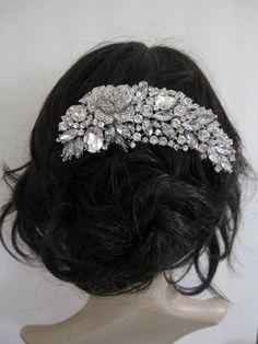 Bridal hair comb,crystal wedding comb,rhinestone bridal comb,Floral Crystal Wedding Hair comb ,wedding hair accessories,bridal headpiece