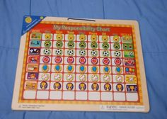 responsibility chart | NEW: Wooden/magnetic responsibility chart (similar to Melissa & Doug ...