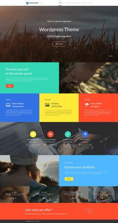 All-in-One Monstroid Theme on Behance Web Design Software, Web Ui Design, Best Web Design, Layout Design, Design Design, Design Thinking, Motion Design, Great Website Design, Website Design Inspiration