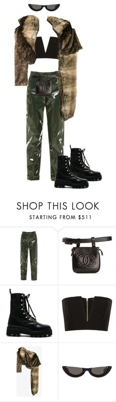"""""""Untitled #350"""" by stardust ❤ liked on Polyvore featuring Carven, Chanel, Altuzarra, Balmain, Dries Van Noten, PAWAKA, contestentry and polyPresents"""