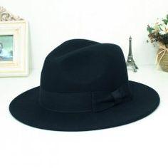 Pura lana di lana lungo cappello
